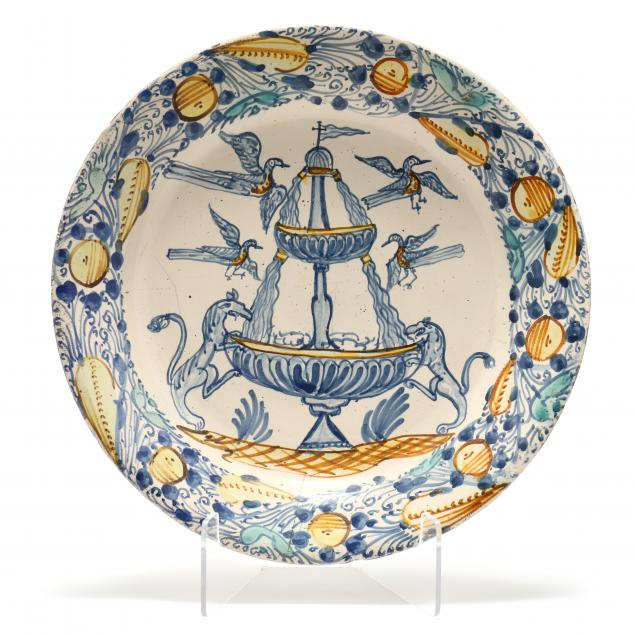 faience-polychrome-charger-of-unique-design