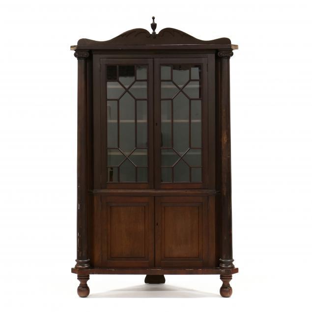 american-late-classical-mahogany-corner-cupboard