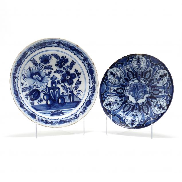 two-delft-blue-and-white-plates-one-i-the-greek-a-i-pottery