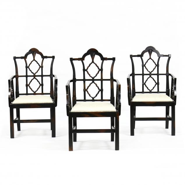 three-chinese-chippendale-style-armchairs