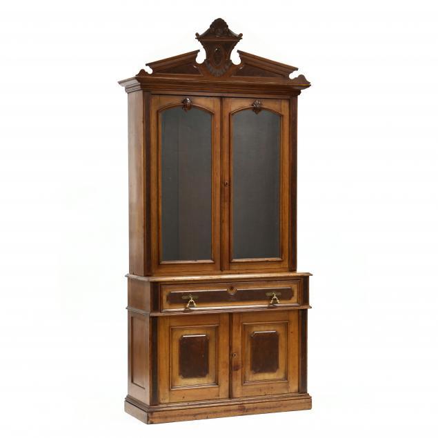american-victorian-walnut-secretary-bookcase