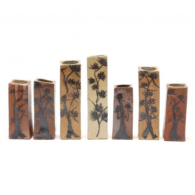 annie-lutter-seven-studio-pottery-bud-vases