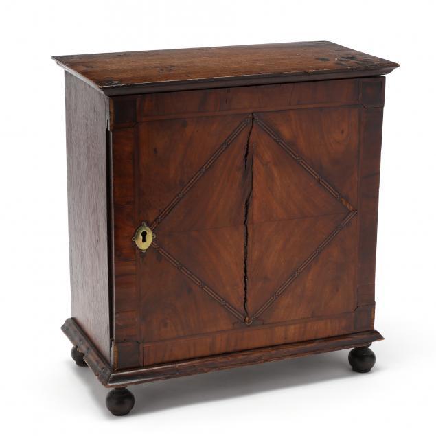 antique-english-inlaid-oak-spice-cabinet