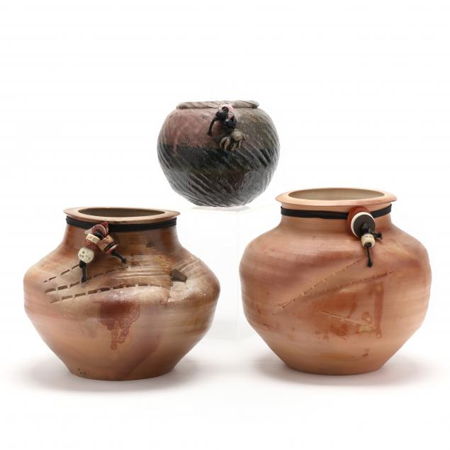 three-frog-pond-pottery-vases-including-annie-lutter