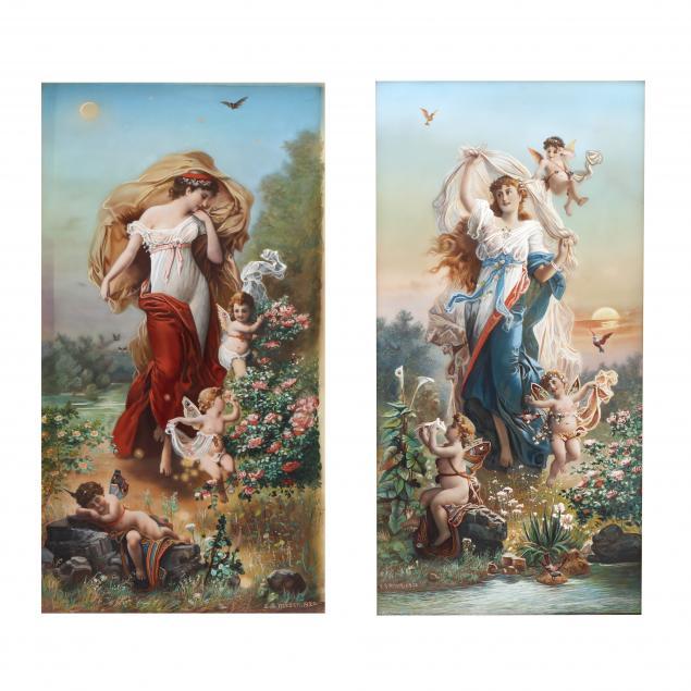 eugene-samuel-reeser-pa-1862-1922-allegory-of-summer-and-winter-two-works