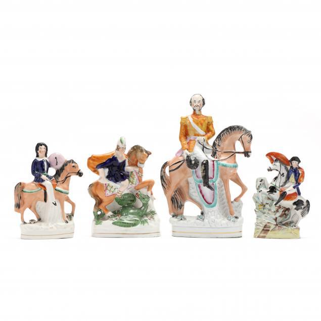four-staffordshire-equestrian-figurines