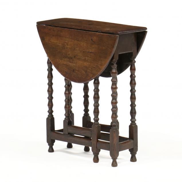 antique-english-oak-drop-leaf-side-table