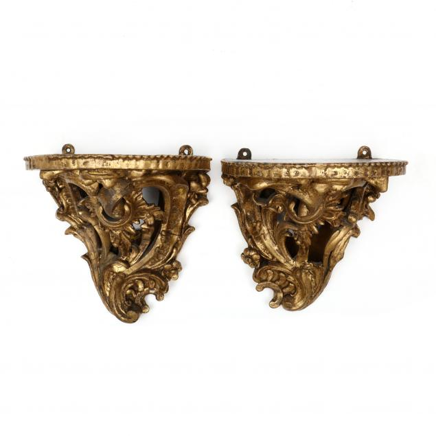 near-pair-of-antique-rococo-style-gilt-wall-brackets