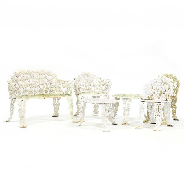 six-pieces-of-grapevine-patterned-iron-garden-furniture