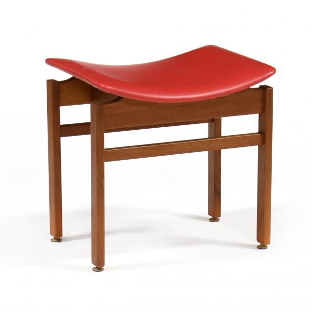 inger-klingenberg-denmark-1932-1997-teak-and-naugahyde-stool