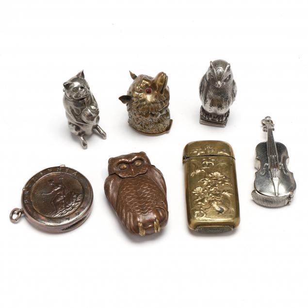 seven-vintage-figural-matchsafes
