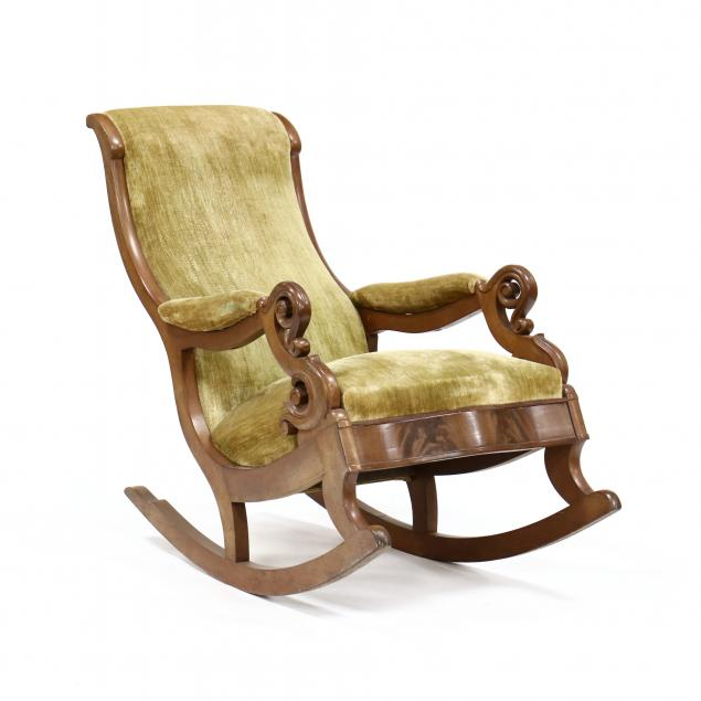 att-thomas-day-carved-mahogany-rocking-chair