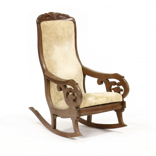 att-thomas-day-carved-walnut-rocking-chair