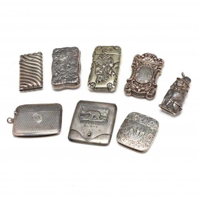 a-collection-of-eight-silver-matchsafes
