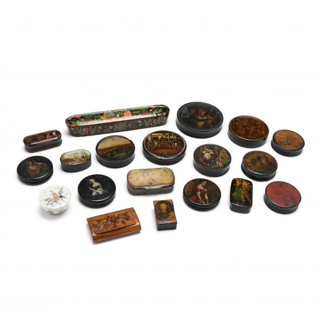 nineteen-antique-continental-snuff-boxes
