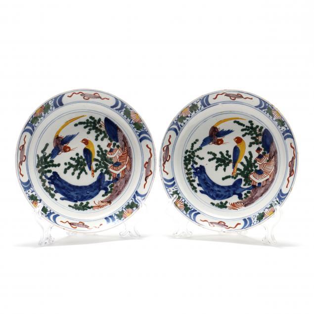 a-pair-of-dutch-delft-polychrome-plates