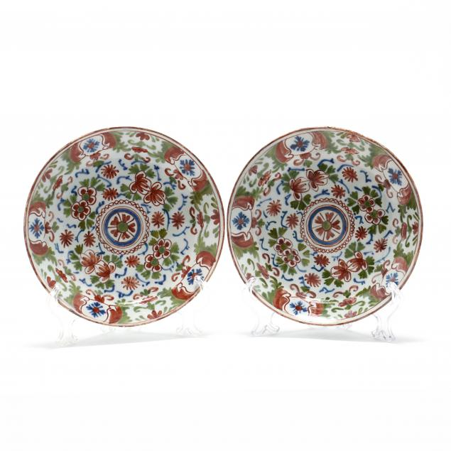 a-pair-of-english-delft-polychrome-floral-plates
