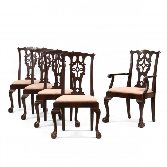set-of-five-chippendale-style-carved-mahogany-dining-chairs