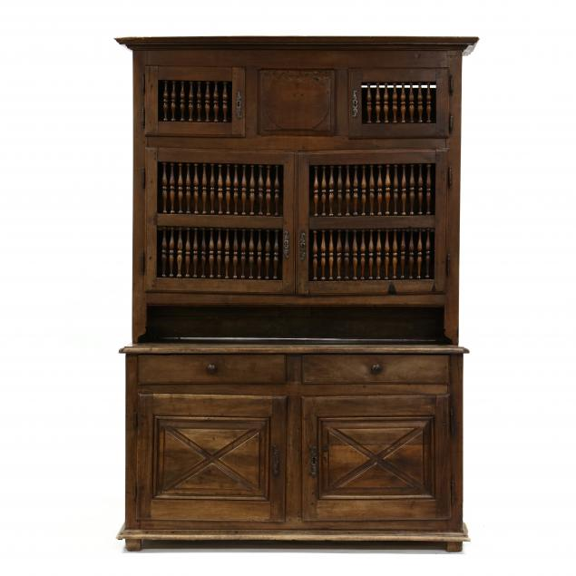 antique-french-walnut-step-back-cabinet