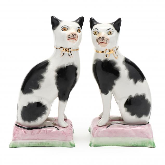 a-pair-of-staffordshire-black-and-white-cats