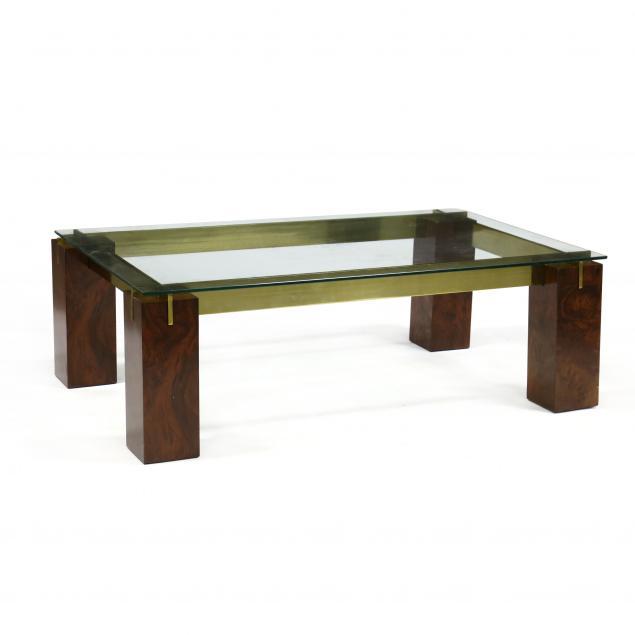 modern-walnut-brass-and-glass-coffee-table