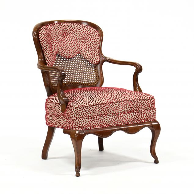 vintage-french-provincial-style-cherry-caned-back-armchair