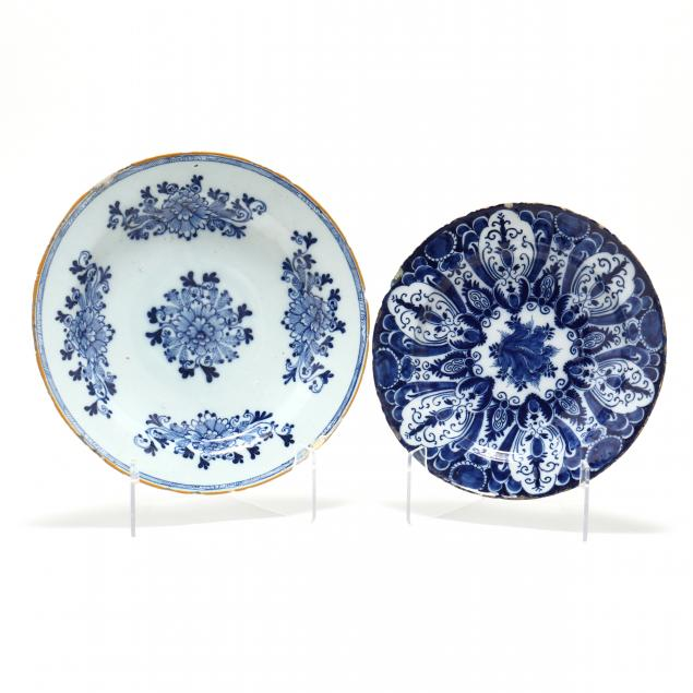 two-signed-dutch-delft-blue-and-white-chargers