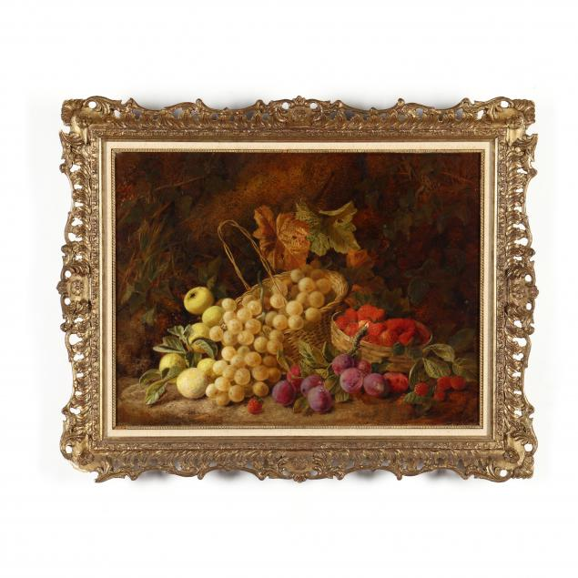 george-clare-english-1830-1900-grapes-apples-plums-and-strawberries-on-a-mossy-bank