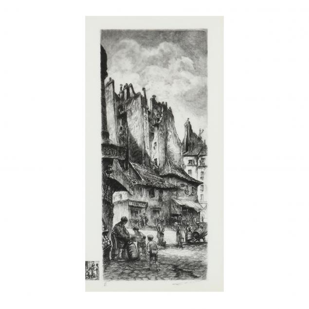 aime-edmond-dallemagne-french-1882-1971-parisian-street-scene