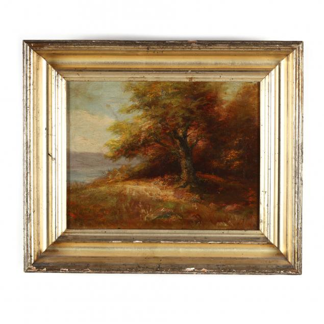 an-antique-american-school-autumnal-landscape-painting