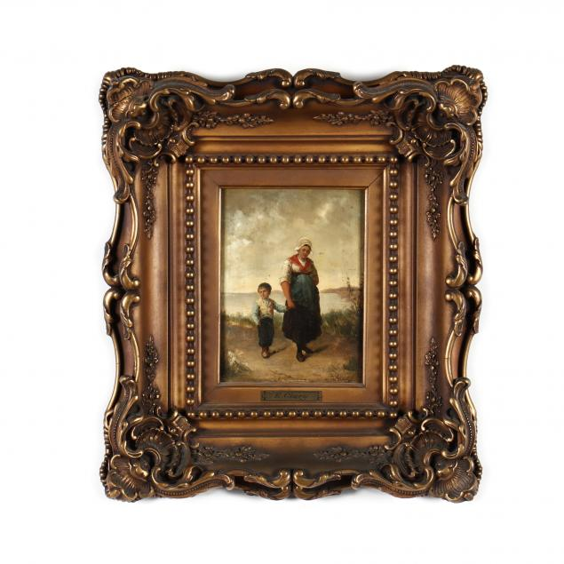 an-antique-dutch-school-painting-of-a-mother-child