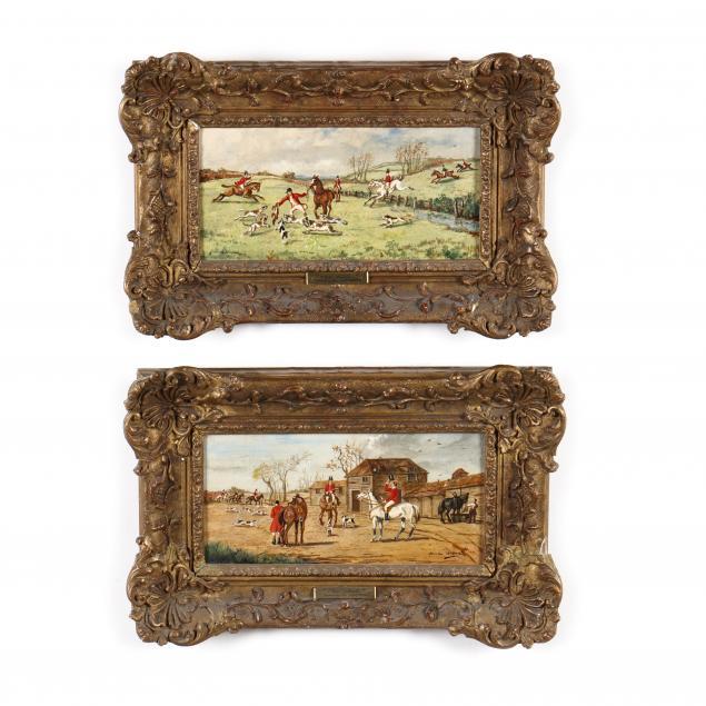 hamlin-watson-english-19th-20th-century-a-pair-of-hunt-scenes