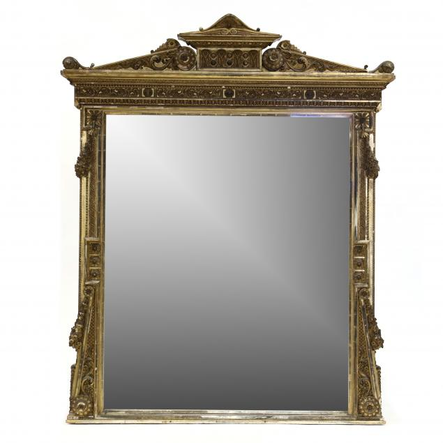an-impressive-antique-carved-and-gilt-over-mantel-mirror