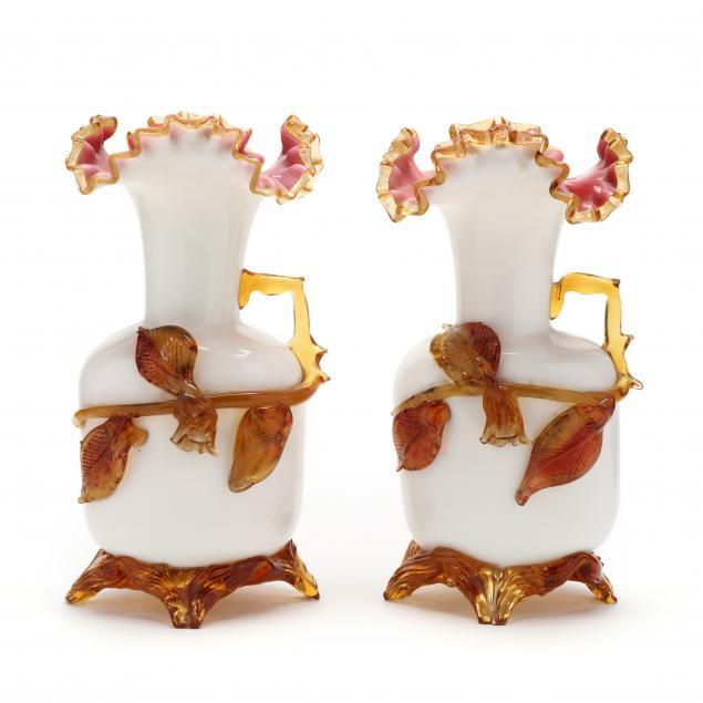 att-stephens-and-williams-pair-of-art-glass-ewers