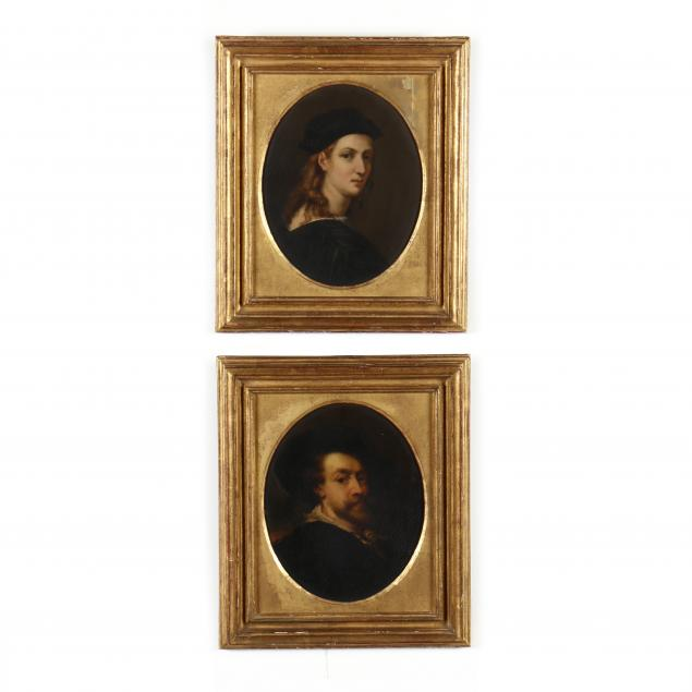 two-antique-paintings-after-portraits-by-raphael-and-rubens