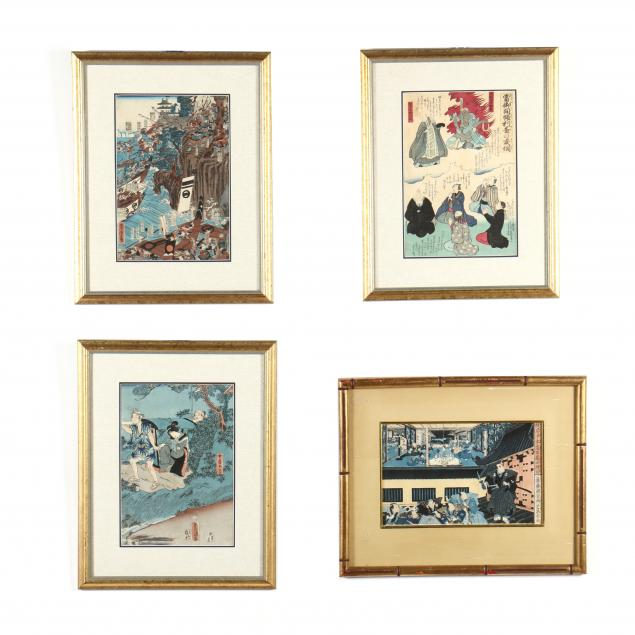a-group-of-four-japanese-woodblock-prints