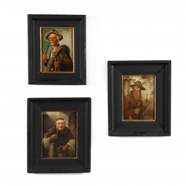 german-school-three-small-antique-portraits-of-gentlemen