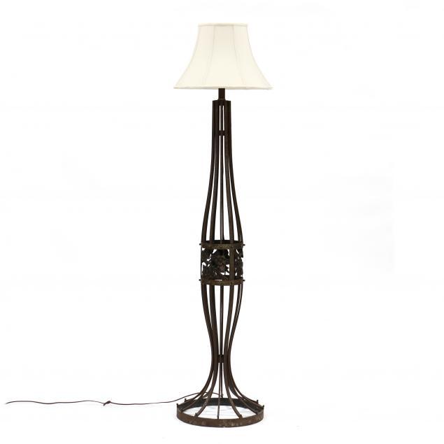 manner-of-edgar-brandt-art-deco-iron-floor-lamp