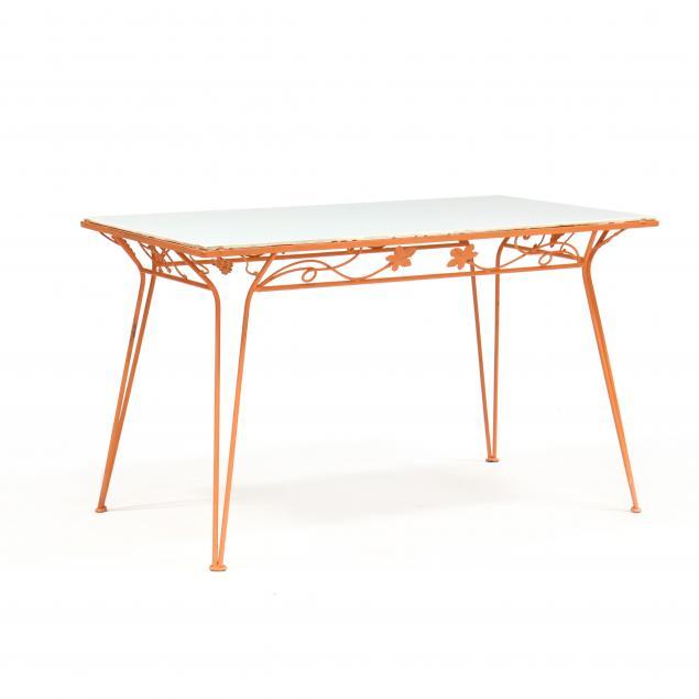 att-john-salterini-italian-1928-1953-mid-century-iron-and-glass-patio-table