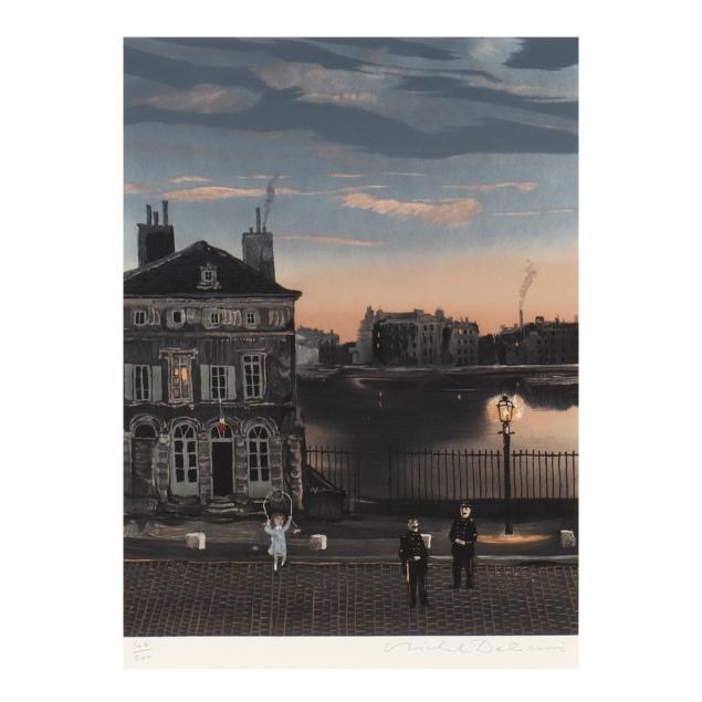 michael-delacroix-french-born-1933-i-french-street-scene-i