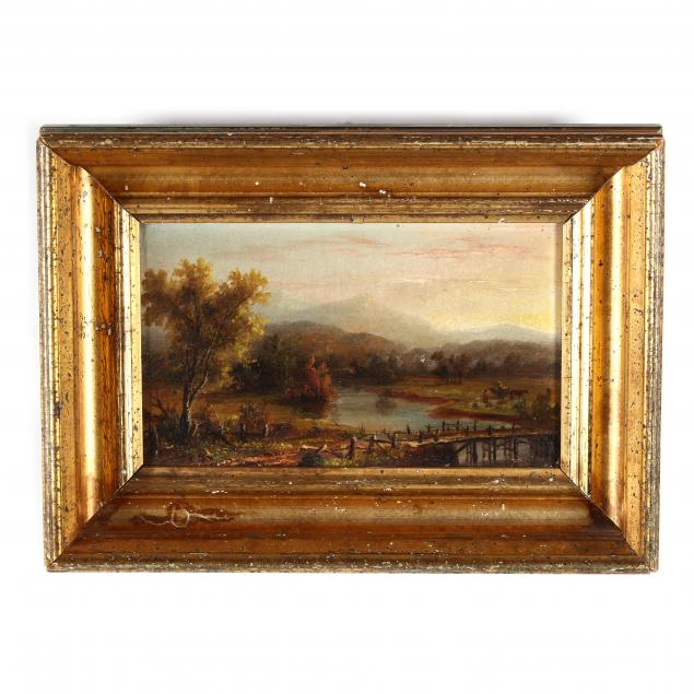 continental-school-late-19th-century-riverside-sunset-scene-with-figures