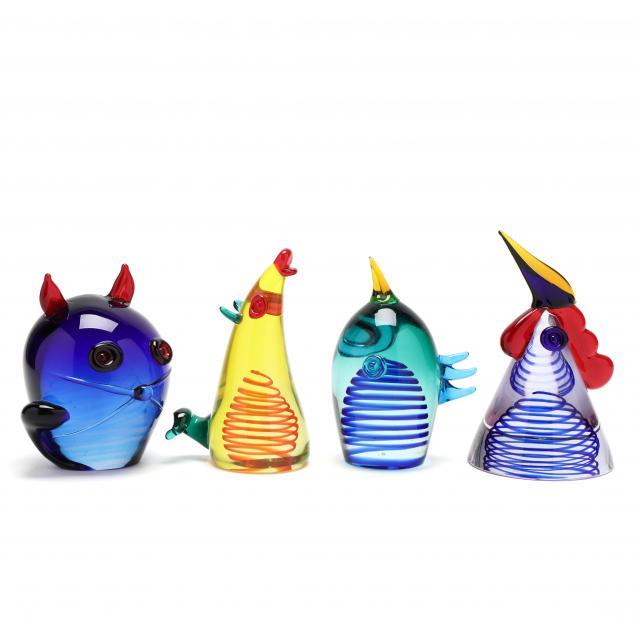 giuliano-tosi-italy-born-1942-four-art-glass-animals