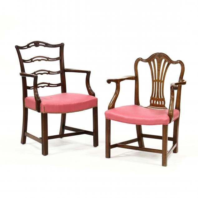 two-chippendale-style-mahogany-armchairs