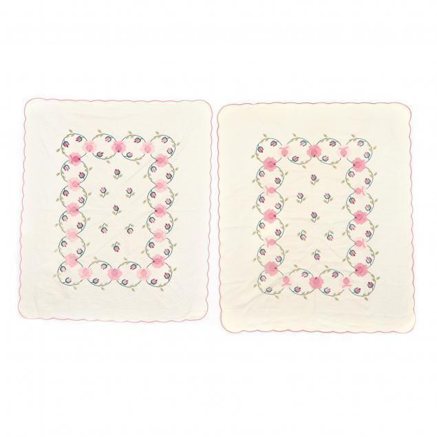 pair-of-vintage-applique-quilts
