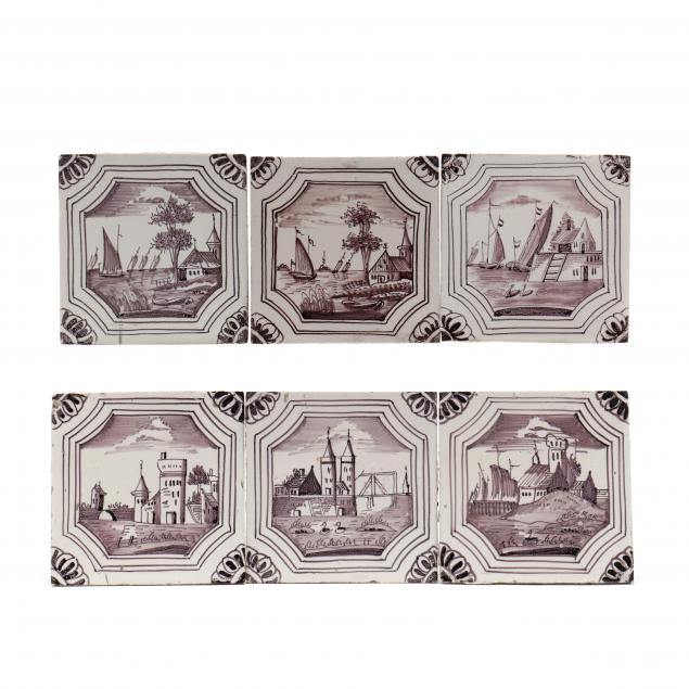 thirteen-antique-nautical-theme-ceramic-delft-tiles