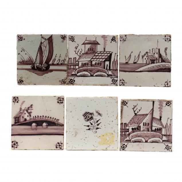 fifteen-antique-ceramic-delft-tiles