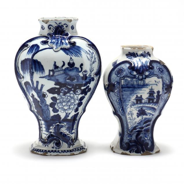 two-dutch-delft-structured-signed-vases