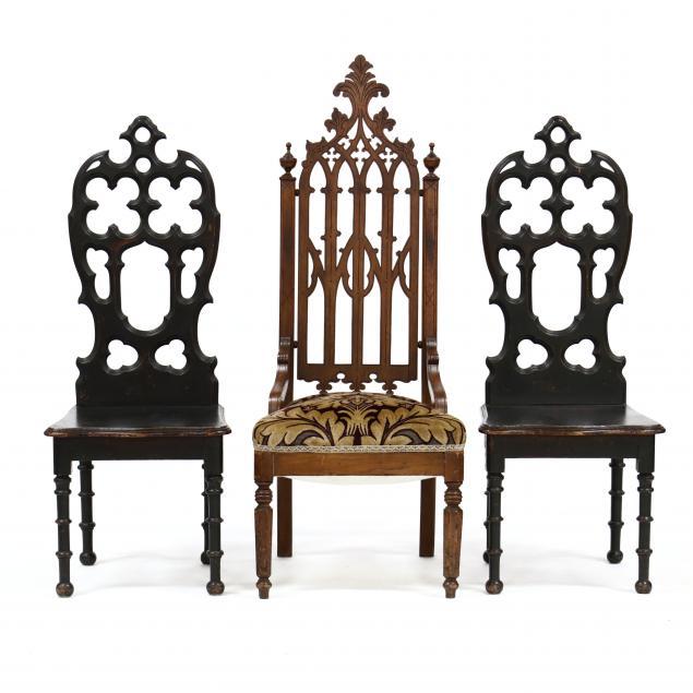 three-gothic-revival-walnut-chairs