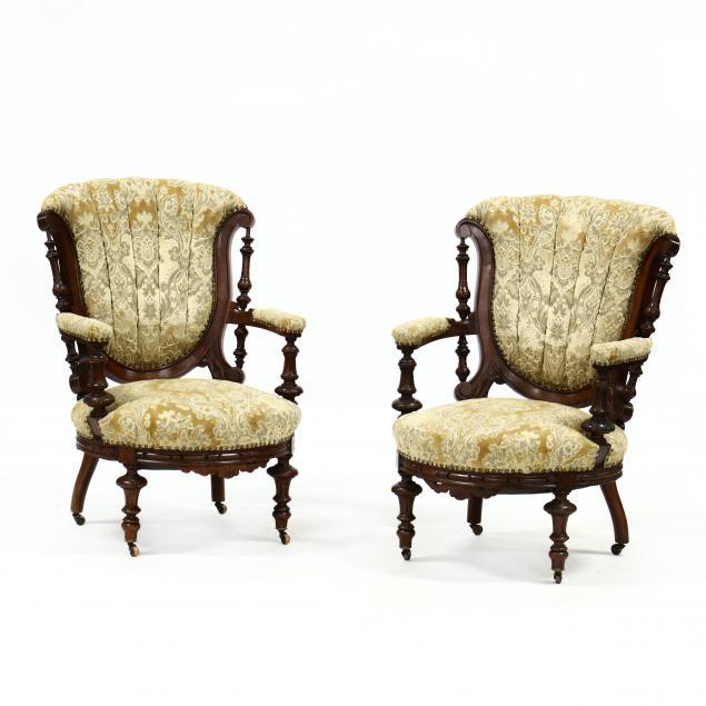 pair-of-renaissance-revival-mahogany-parlor-chairs