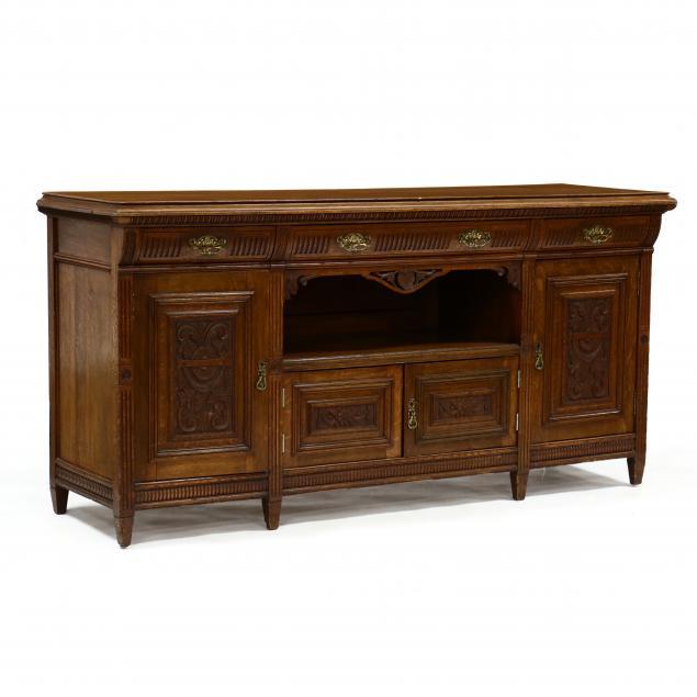 edwardian-carved-oak-sideboard